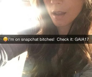 snapchat, pretty little liars, and troian bellisario image