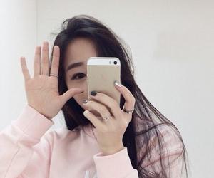 ulzzang, asian, and pink image
