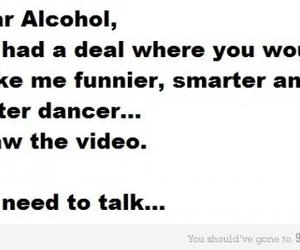 alcohol, funny, and quote image