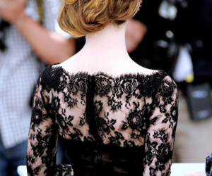 emma stone, cannes, and black image
