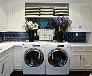 blue, laundry, and white image