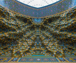 ceiling, iran, and mosque image