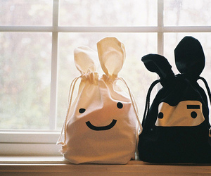 cute, bag, and black image