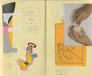 art, Collage, and drawing image