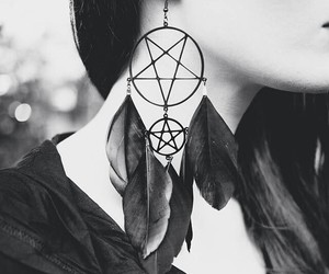 pentagram and dreamcatcher image