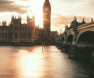 london, sunset, and Big Ben image
