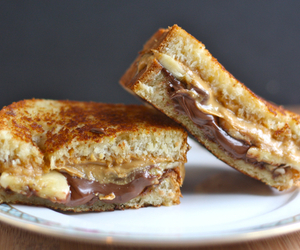food, nutella, and peanut butter image