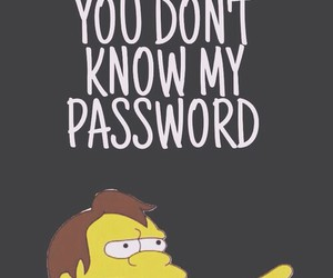 wallpaper, password, and simpsons image