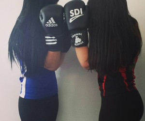 boxe and girl image