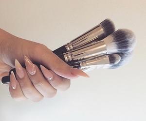 Brushes, makeup, and nails image