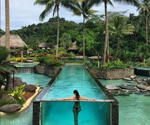summer, pool, and paradise image