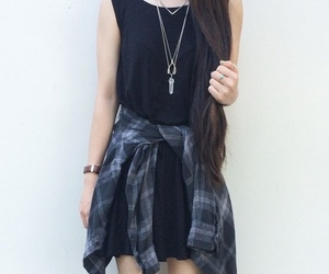 black dress, outfit, and clothes image