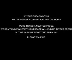 quote, coma, and wake up image