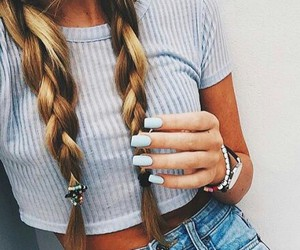 beauty, blond, and hair image