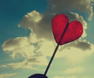 heart, red, and clouds image