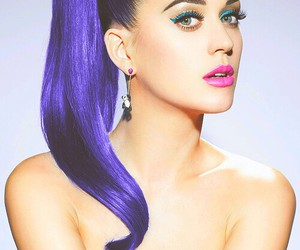 blue hair, katy perry, and style image