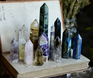 crystal, book, and magic image