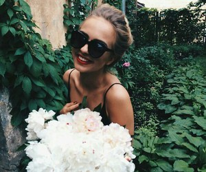 flower, girl, and loveit image
