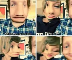 sweeran, Taylor Swift, and ed sheeran image