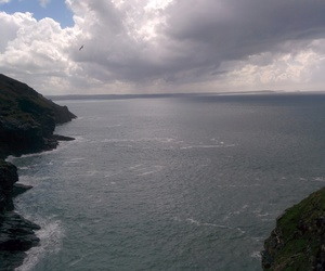 nature, sea, and tintagel image