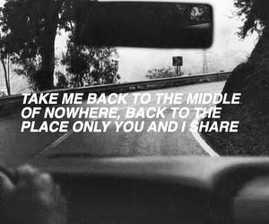 black and white, Lyrics, and quote image
