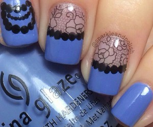 blue and black and nails image