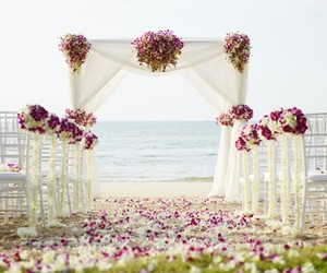 flowers, romantic, and wedding image