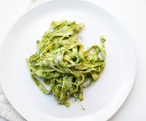 food, pasta, and green image