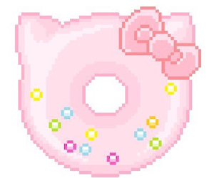 pink, donut, and kawaii image