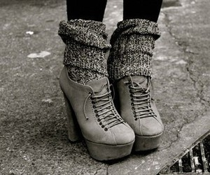adorable, grey, and shoes image