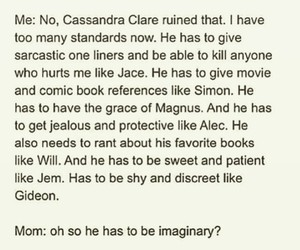 cassandra clare, simon lewis, and jace herondale image