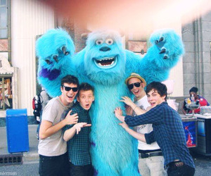 blue, monster, and boy image