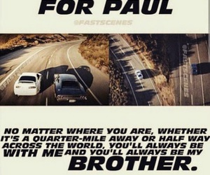 brothers, paul walker, and loved image