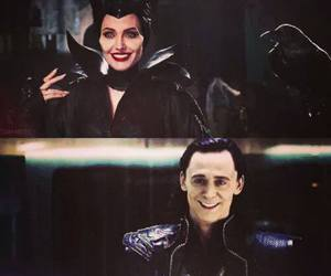 Angelina Jolie, maleficent, and tom hiddleston image