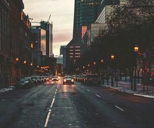 city, light, and street image