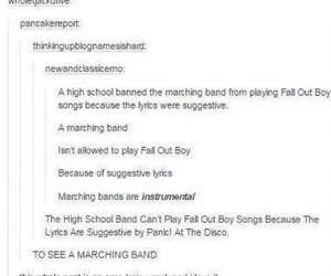 fall out boy and text post image