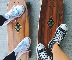 skateboard, converse, and tumblr image