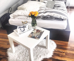 room, bed, and grey image