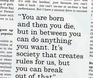 black and white, quote, and text on pics image