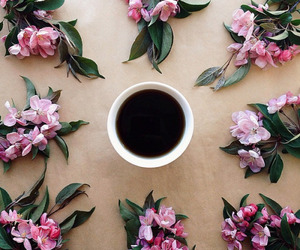 coffee, flowers, and flower image