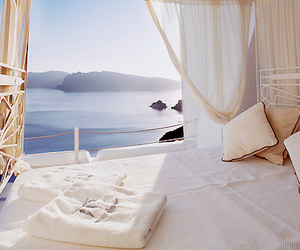 bed, sea, and summer image