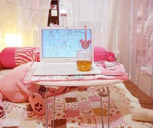 floral, laptop, and kawaii image