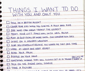 i want to do things