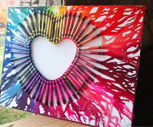 heart, art, and colors image
