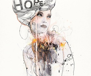 art, woman, and hope image