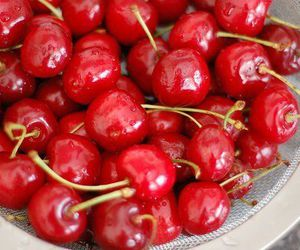 cherry, food, and red image