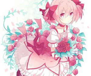 anime, pink, and rose image