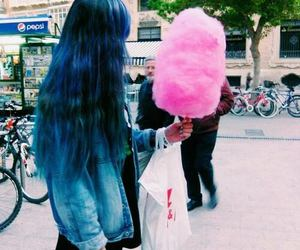 blue, hair, and fashion image
