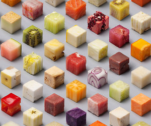 food, cube, and art image