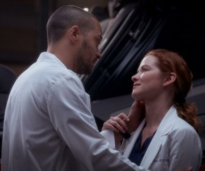 couple, april kepner, and grey's anatomy image